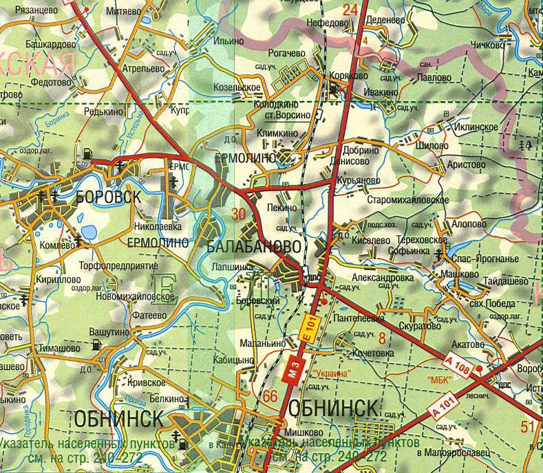 Карта калуга схема